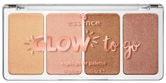 0ee6f essence glow to go highlighter palette - ESSENCE ASSORTIMENT UPDATE SPRING SUMMER 2018